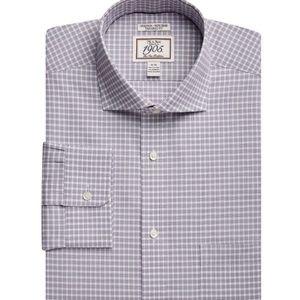 1905-Tail Cutaway Collar Stretch Check Dress Shirt